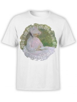 1410 Claude Monet T Shirt Woman Reading Front