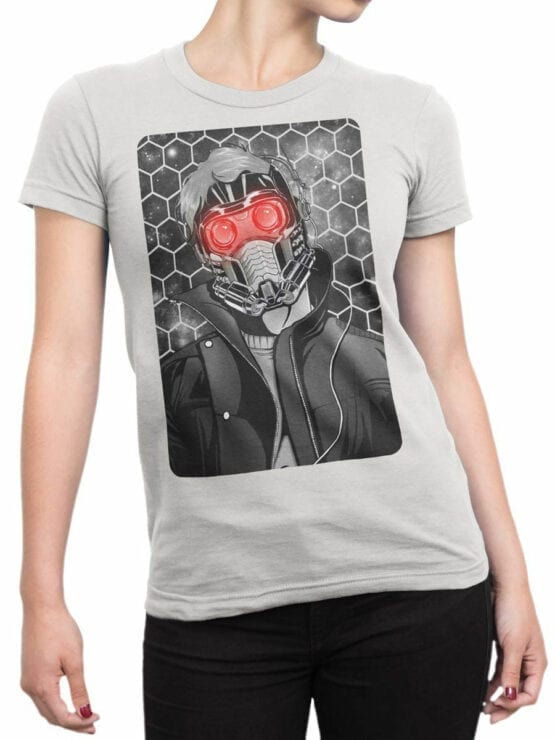 1414 Guardians of the Galaxy T Shirt Star Lord Front Woman