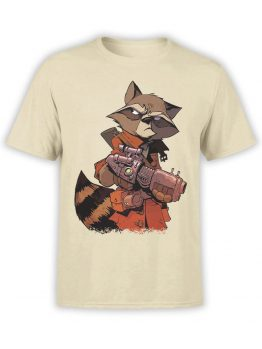 1417 Guardians of the Galaxy T Shirt Rocket Raccoon Front