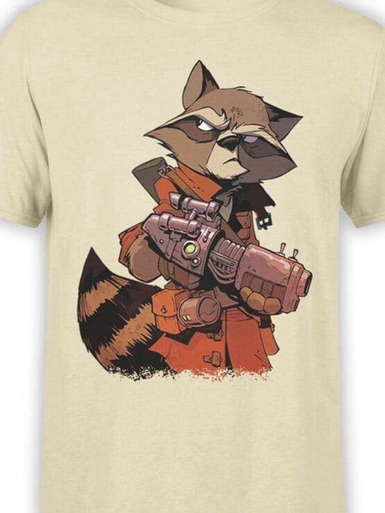 1417 Guardians of the Galaxy T Shirt Rocket Raccoon Front Color