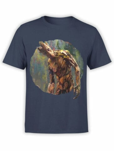 1418 Guardians of the Galaxy T Shirt Groot Paint Front