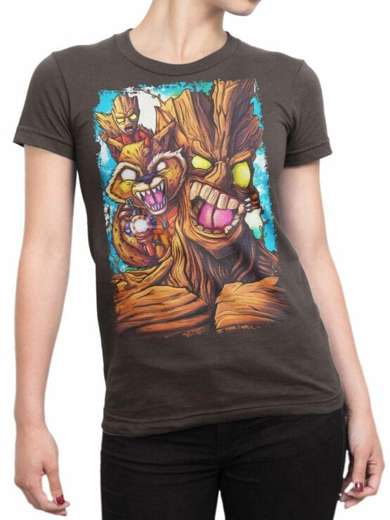 1419 Guardians of the Galaxy T Shirt Rage Front Woman