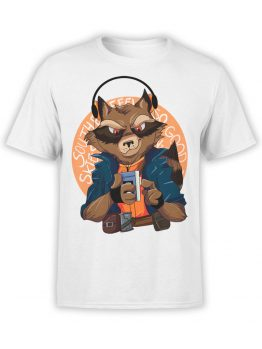 1420 Guardians of the Galaxy T Shirt Rocket Front