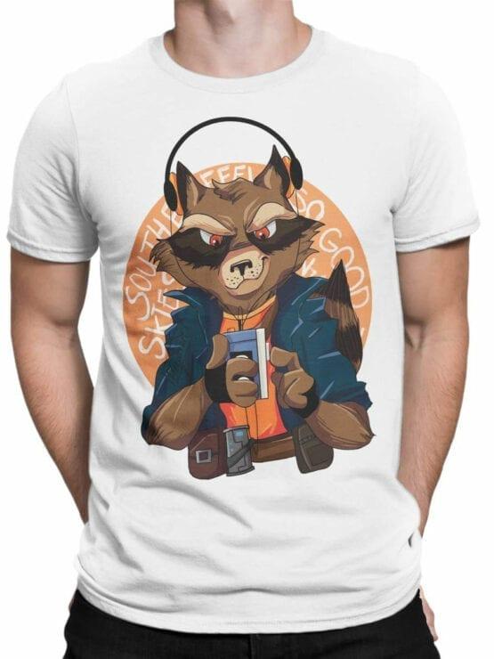 1420 Guardians of the Galaxy T Shirt Rocket Front Man