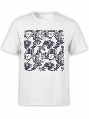 1421 Cornelis Escher T Shirt 8 Heads Front