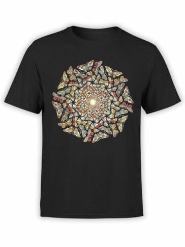 1422 Cornelis Escher T Shirt Circle Limit with Butterflies Front 1