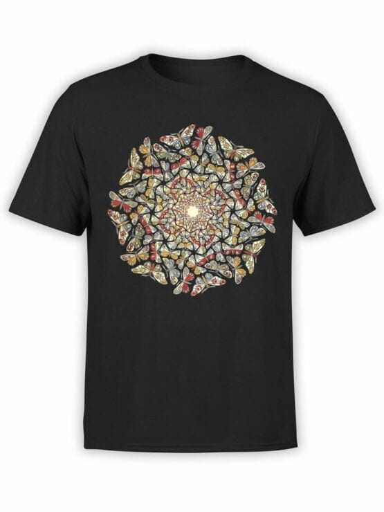 1422 Cornelis Escher T Shirt Circle Limit with Butterflies Front 1