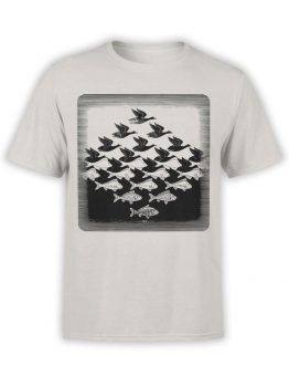 1423 Cornelis Escher T Shirt Aky and water I Front