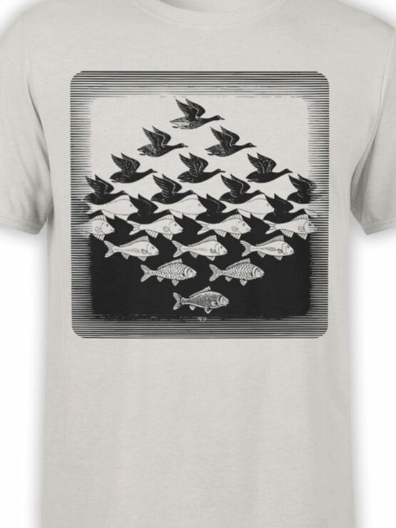 1423 Cornelis Escher T Shirt Aky and water I Front Color