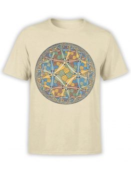1424 Cornelis Escher T Shirt Circle limit II Front