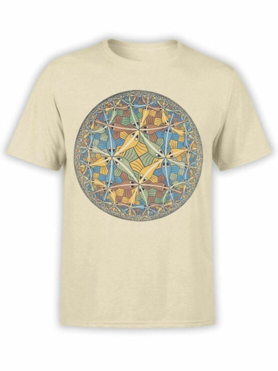 1424 Cornelis Escher T Shirt Circle limit II Front