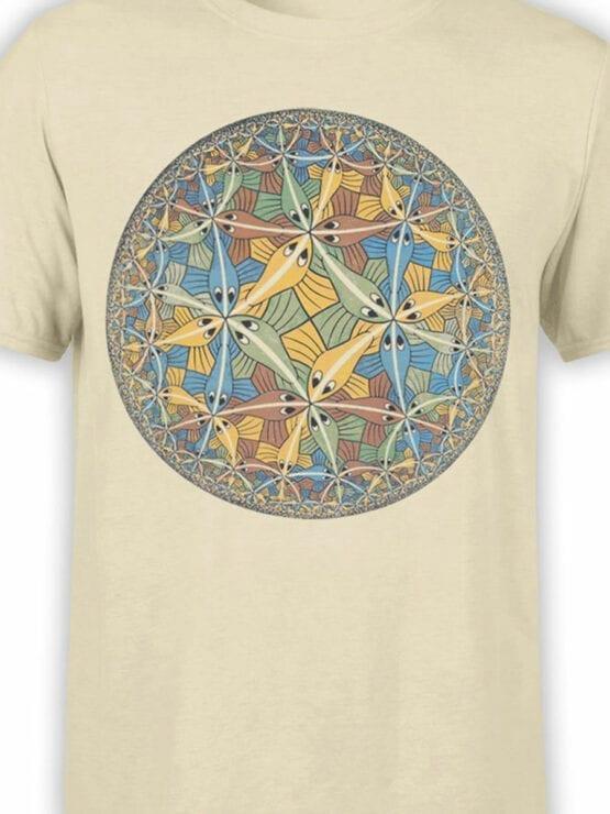 1424 Cornelis Escher T Shirt Circle limit II Front Color