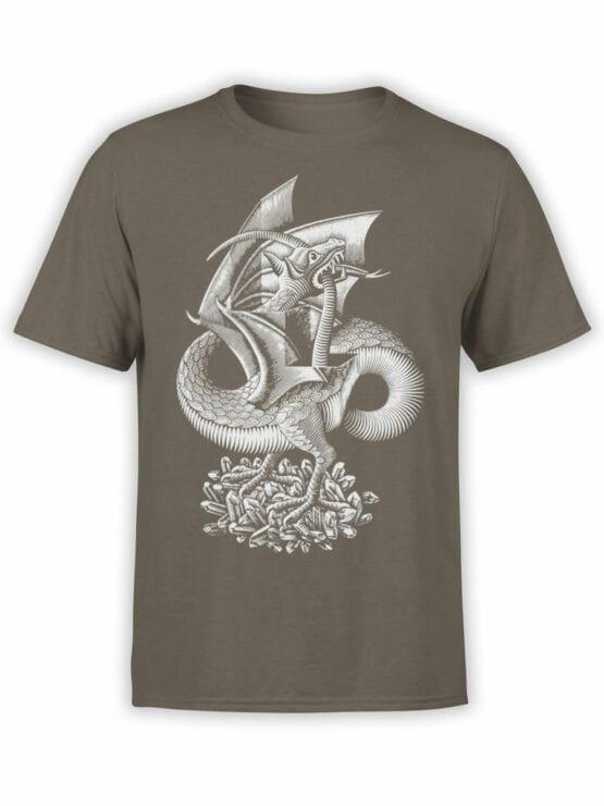 1425 Cornelis Escher T Shirt Twon Dragon Front