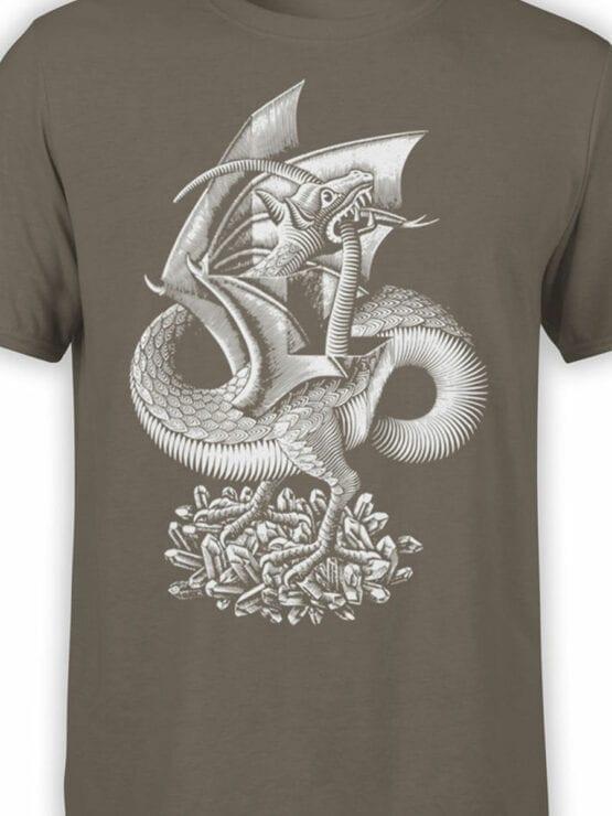 1425 Cornelis Escher T Shirt Twon Dragon Front Color