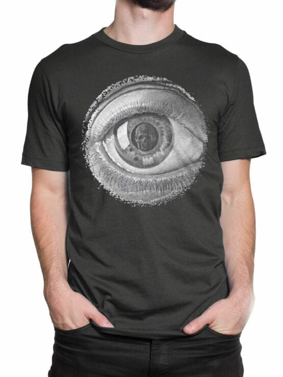 1426 Cornelis Escher T Shirt Twon Eye Front Man 2