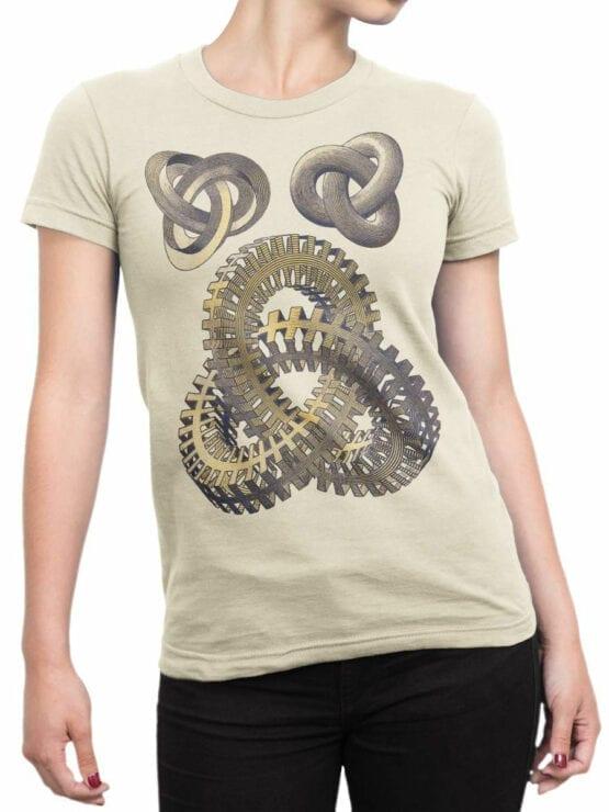1428 Cornelis Escher T Shirt Knots Front Woman