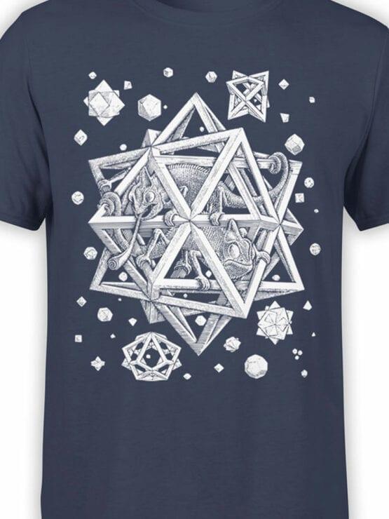 1429 Cornelis Escher T Shirt Stars Front Color