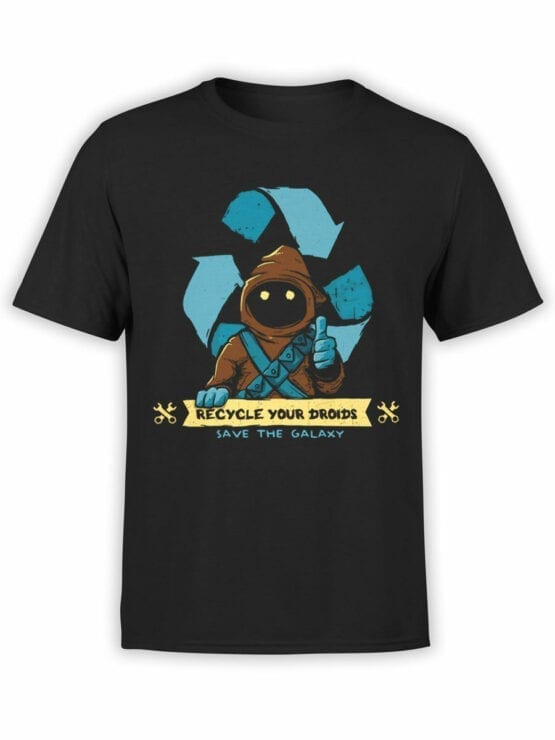 1431 Star Wars T Shirt Recycle Front