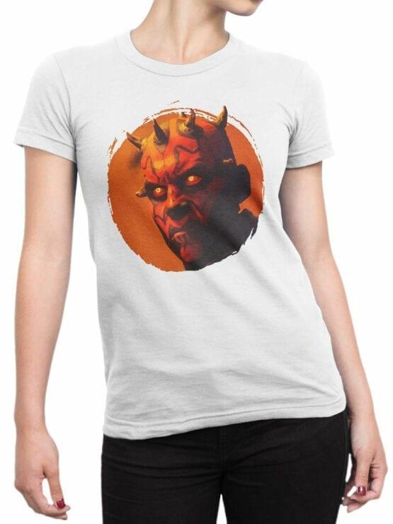 1433 Star Wars T Shirt Dark Side Front Woman