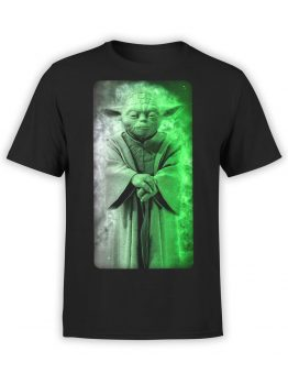 1435 Star Wars T Shirt Yoda Front