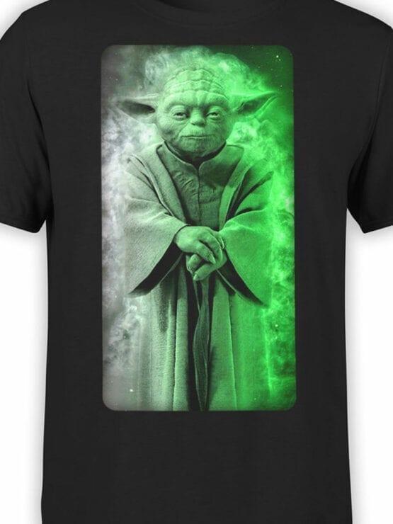 1435 Star Wars T Shirt Yoda Front Color