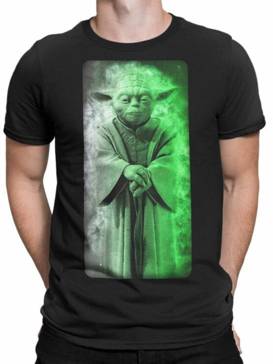 1435 Star Wars T Shirt Yoda Front Man