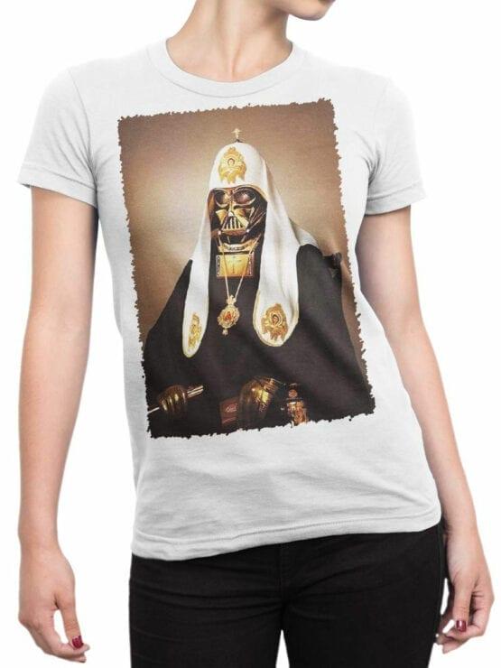 1436 Star Wars T Shirt St. Vader Front Woman