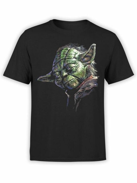 1437 Star Wars T Shirt Master Yoda Front