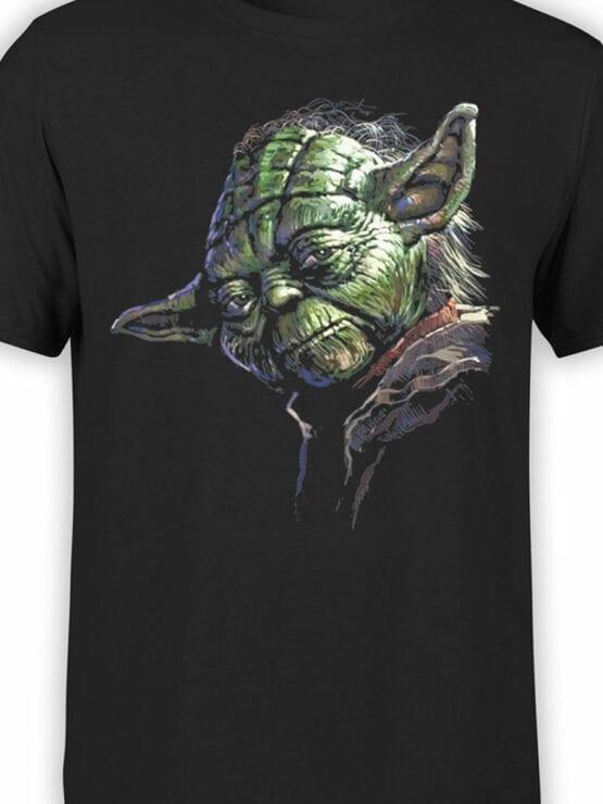 1437 Star Wars T Shirt Master Yoda Front Color