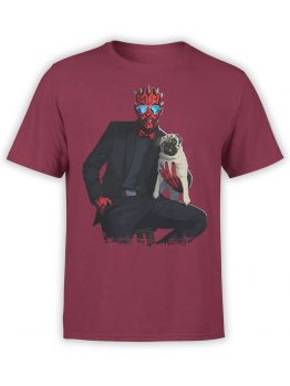 1439 Star Wars T Shirt Maul and Pug Front