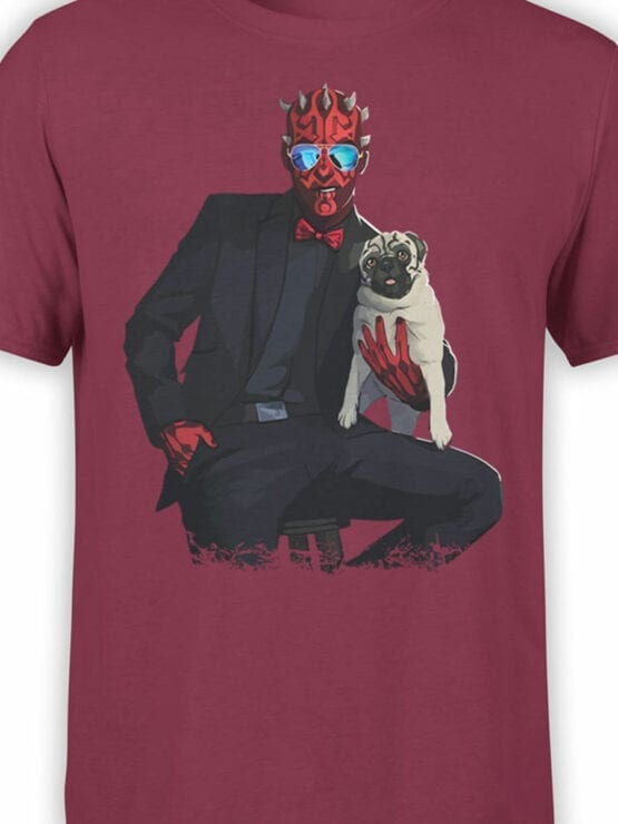 1439 Star Wars T Shirt Maul and Pug Front Color