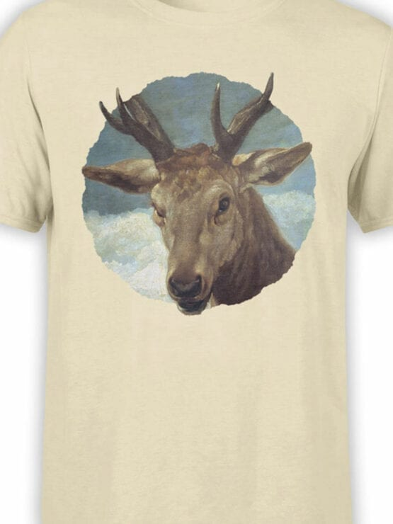 1441 Diego Velazquez T Shirt Head of a Buck Front Color
