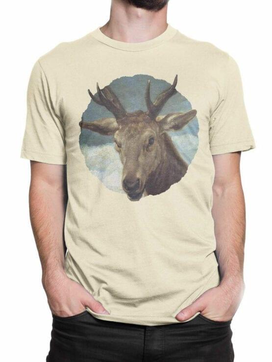 1441 Diego Velazquez T Shirt Head of a Buck Front Man 2