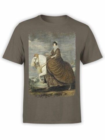 1442 Diego Velazquez T Shirt Equestrian Portrait of Elisabeth of France Front