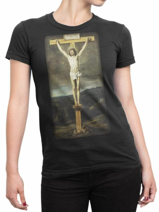 1444 Diego Velazquez T Shirt The Crucifixion Of Christ Front Woman