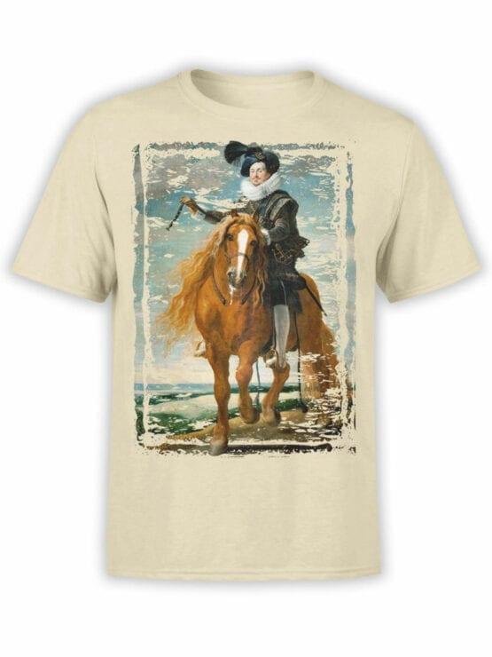 1445 Diego Velazquez T Shirt Retrato ecuestre de Diego Mexía Felípez de Guzmán Front
