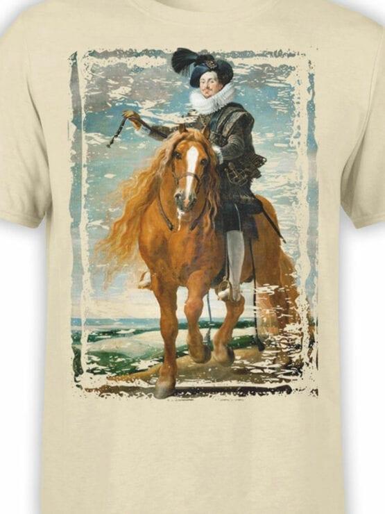 1445 Diego Velazquez T Shirt Retrato ecuestre de Diego Mexía Felípez de Guzmán Front Color