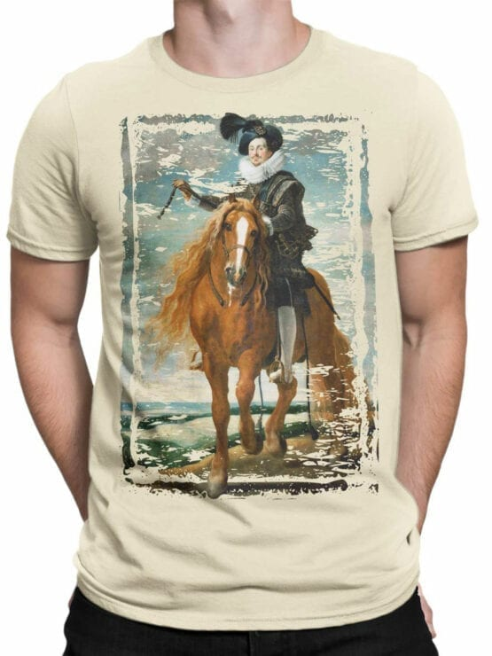 1445 Diego Velazquez T Shirt Retrato ecuestre de Diego Mexía Felípez de Guzmán Front Man