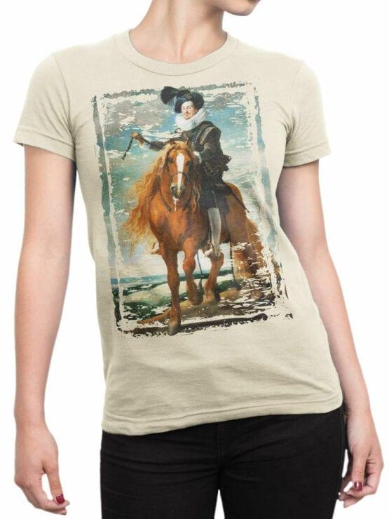 1445 Diego Velazquez T Shirt Retrato ecuestre de Diego Mexía Felípez de Guzmán Front Woman