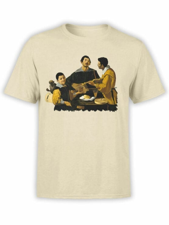 1448 Diego Velazquez T Shirt The Three Musicians Front