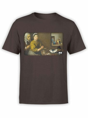 1449 Diego Velazquez T Shirt Christ in the House of Martha and Mary Front