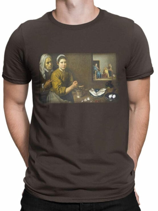 1449 Diego Velazquez T Shirt Christ in the House of Martha and Mary Front Man