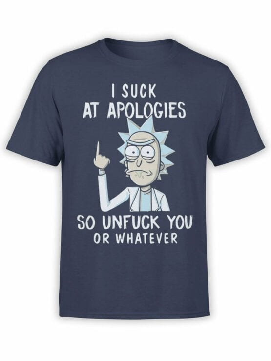 1451 Rick and Morty T Shirt Unfuck Front