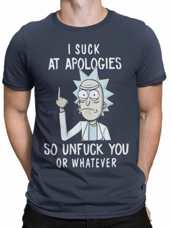 1451 Rick and Morty T Shirt Unfuck Front Man