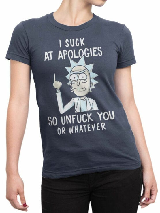 1451 Rick and Morty T Shirt Unfuck Front Woman