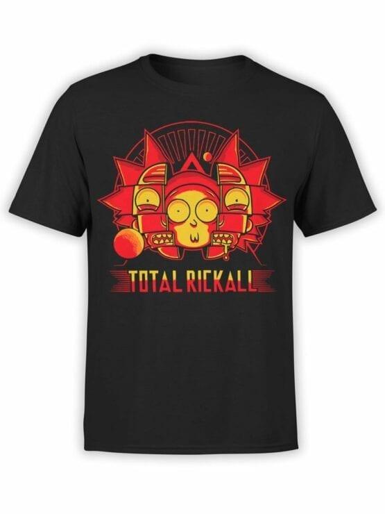 1452 Rick and Morty T Shirt Rickall Front