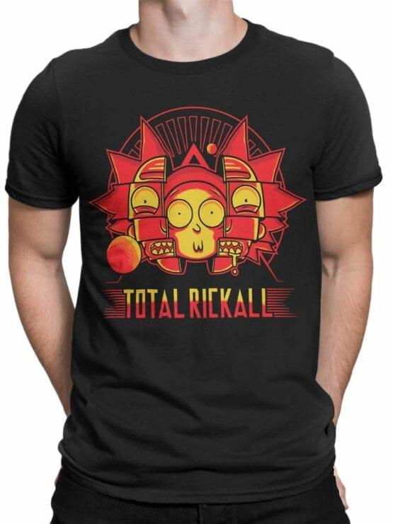 1452 Rick and Morty T Shirt Rickall Front Man