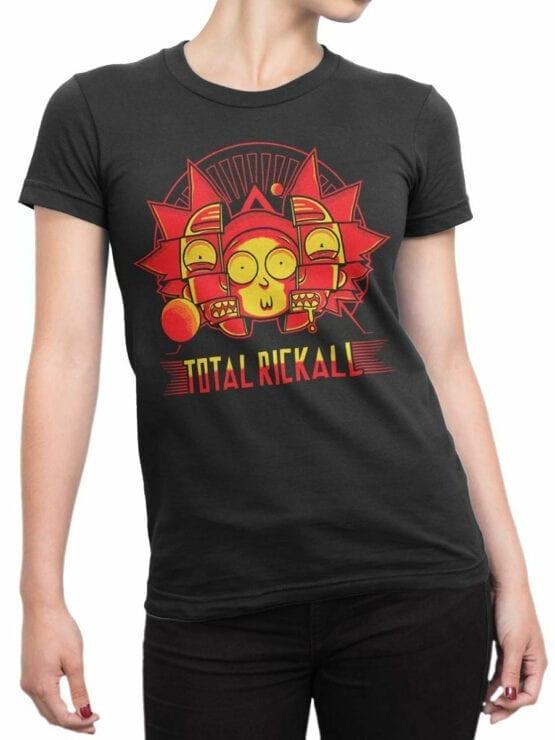 1452 Rick and Morty T Shirt Rickall Front Woman
