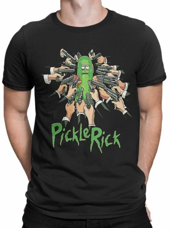 1453 Rick and Morty T Shirt Pickle Rick Front Man