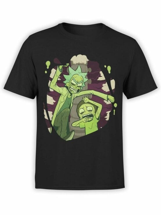 1454 Rick and Morty T Shirt Escape Front
